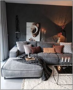 21 grey small living room apartment designs to look&; 21 grey small living room apartment designs to look&; Ramona Rockabella Home 21 grey small living room apartment designs […] living room Boho Living Room, Cozy Living Rooms, Living Room Lighting, Apartment Living, Masculine Living Rooms, Rustic Apartment, Cozy Apartment, Home Living, Apartment Interior
