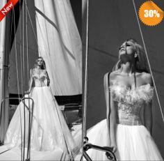 2014 New Autumn Wedding Dresses Ball Gown Sweetheart  Sleeveless Zipper Organza Sexy Wedding dress Famous Designer Free shipping