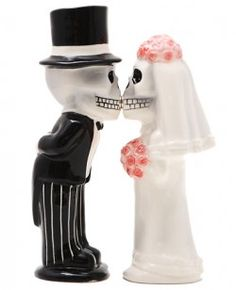 Bride and Groom Salt and Pepper Pots