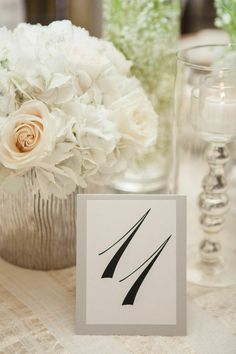 Classic Black and White Puerto Rico Wedding from 1313 Photography - wedding centerpiece idea