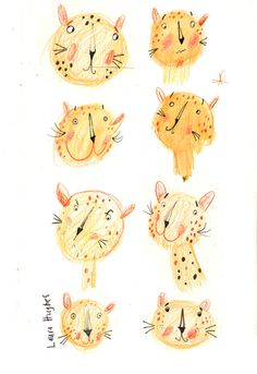Laura Hughes - leopards sketch