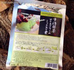 Preparado para hacer helado de té verde japonés
