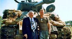 'I didn't have a clue' War Veteran clueless as he meets Brad Pitt on WWII film set  - http://www.warhistoryonline.com/war-articles/i-clue-war-veteran-clueless-meets-brad-pitt-wwii-film-set.html