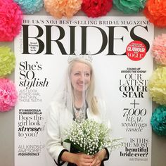 Larking around @bridestheshow on Sun...!  #wishicoulddoitagain #alreadymarried #wifey #coverstar #brides #bride  #bridestheshow #weddingfair #weddingfayre #islington #bridesmagazine @brides #weddingtasker #weddingplanner #weddingblog #weddingblogger #devinebride