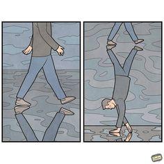 Con sarcasmo y mucho humor, este ilustrador recrea la sociedad actual