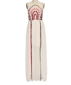 Look at this #zulilyfind! Taupe Geo Embroidered Maxi Dress by inLUV #zulilyfinds