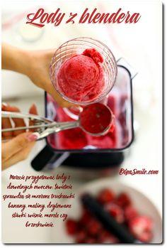 Lody z blendera Ab Diet, Ice Cream, Vegan, Vegetables, Desserts, Smile, Ice Creamery, Postres, Icecream Craft