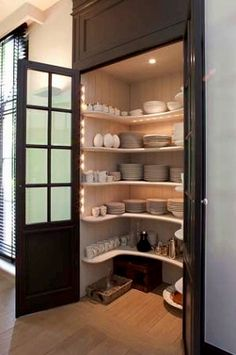 Built Kitchen Pantry Design Ideas – Page 23 – Home Decor Ideas Style At Home, Sweet Home, Cuisines Design, Home Fashion, Kitchen Storage, Pantry Storage, Dish Storage, Extra Storage, China Storage