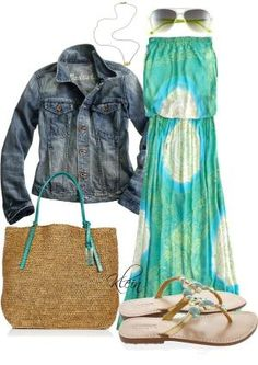 Maxi Dress, created by stacy-klein on Polyvore by loraine