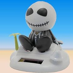 Jack Skellington Nightmare Before Christmas Solar Powered Bobble Head : Amazon.com : Automotive