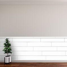 CeilingMAX 0.08 ft. x 8 ft. Ceiling Grid Kit PVC Ceiling Tile & Reviews | Wayfair Stick On Wood Wall, Peel And Stick Wood, Vinyl Wall Panels, Wood Panel Walls, Plank Walls, Reclaimed Wood Wall Panels, Allure Flooring, White Shiplap Wall, Ship Lap Walls