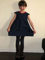 oliver+s  bubble dress with regular skirt