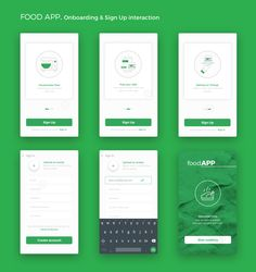 Food app android onboarding sign up christophe kerebel