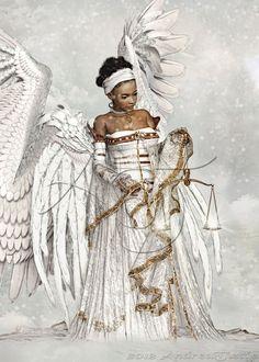 Pictures Of African Warrior Angels - angel warrior by kikicianjur on DeviantArt Black Love Art, Black Girl Art, My Black Is Beautiful, Black Girl Magic, Art Girl, African American Art, African Art, Native American Indians, Art Beauté