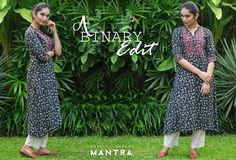 A Binary Edit - Black and white tunics with contrasting highlights. Shop for this black and white cotton kurta at, https://bit.ly/2vhrNzz.  #Mantra #blackandwhite #Abinaryedit #Newarrivals