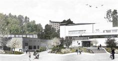 Ruusupuisto architectural competition winner. Alvar Aalto Museum Check site www.alvaraalto.fi/ruusupuisto for author information