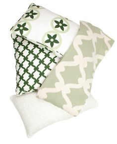 COCOCOZY greens!  Pillows and throws! http://cococozy.com