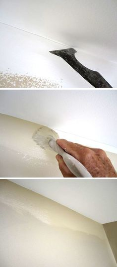 The secret to painting a straight line at the ceiling