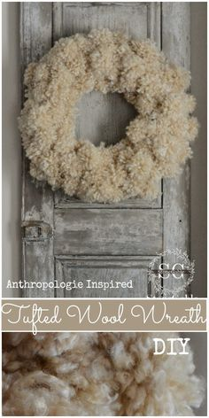 Tufted Wool Wreath Inspired by Anthropologie