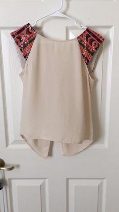 Sequin Sleeve Flowy Top    [url]: http://www.vinted.com sh/clothes/16625930-sequin-sleeve-flowy-top