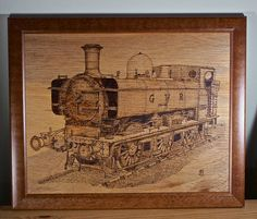 A GWR pannier tank engine, drawn from a photo I took visiting the Severn Valley Railway