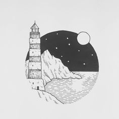 "2,630 Likes, 18 Comments - Sarah Hernandez (@lostswissmiss) on Instagram: ""A variation of a lighthouse I have sketched up for a commission. There are also so many amazing…"""