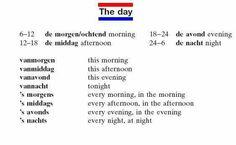 Dutch: the day