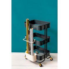 Storage Cart, Craft Storage, Storage Boxes, Storage Baskets, Ikea Raskog Trolley, Ikea Cart, Ikea Organization Hacks, Stationary Organization, Ikea Hacks