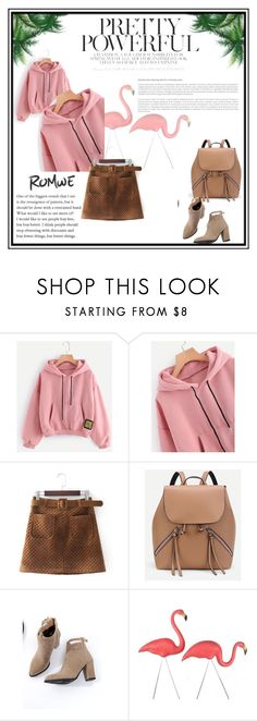 """Drop Shoulder Patch Detail Hoodie"" by barbi-clix ❤ liked on Polyvore"