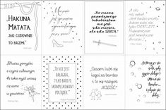 plakaty z cytatami z bajek Poster Pictures, Binder Covers, Baby Art, Brush Lettering, Journal Pages, Kids And Parenting, Motto, Favorite Quotes, Free Printables