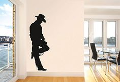 Cowboy Wall Decal for the wild west home. Decorate your space with great vinyl decals and stickers. Quality - Made in USA.