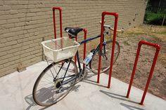 Image result for METAL pipe bike rack
