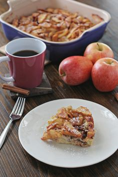 Overnight Baked Apple Cinnamon French Toast-------------This was perfect! Used 1% milk instead of whole with great results. Added some cinnamon to the egg/milk mixture as well. Will make again!