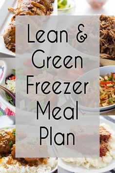I've put together a plan with 6 easy to make Lean & Green Freezer Meals to help you eat healthy and stay on track - and the shopping list is included! meals make ahead healthy Premade Freezer Meals, Chicken Freezer Meals, Make Ahead Freezer Meals, Freezer Cooking, Crockpot Meals, Easy Lean Meals, Plan Ahead Meals, Cooking Hacks, Medifast Recipes