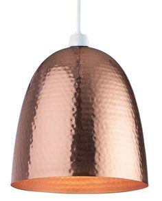 Modern Copper Metal Hammered Ceiling Pendant Light from Lights 4 Living