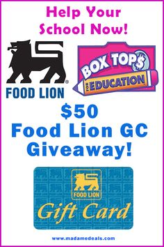 Help your school with Food Lion Box Tops for Education offer! Plus join our $50 Food Lion GC #giveaway #foodlionboxtops #sponsored http://goo.gl/zpjC3D