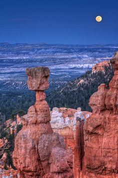 Supermoon at Bryce Canyon (simple how to calculate moonrise position) - Anne McKinnell Photography