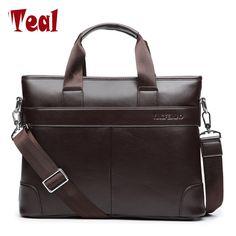Men s shoulder bag Men Briefcase Pu Leather Business Bag Casual Tote Bags  Retro Travel Computer Laptop Men s Bags Simple Dot e67c597c71bc4
