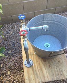 Plumbing Drains, Plumbing Tools, Bathroom Plumbing, Plumbing Fixtures, Outdoor Garden Sink, Outdoor Sinks, Outdoor Kitchen Design, Outdoor Play, Outdoor Ideas