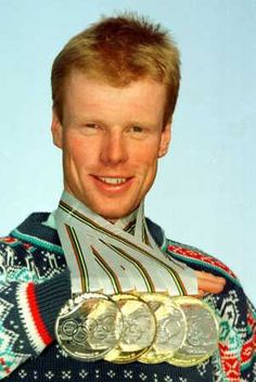 Bjorn Dæhlie of Norway - In the years from 1992 to 1999, Dæhlie won the Nordic World Cup 6 times, finishing second in 1994 and 1998.  Dæhlie won a total of 29 medals in the Olympics and World Championships in the period between 1991 and 1999, making Dæhlie the most successful cross-country skier in history.