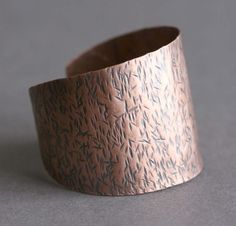 Stylish Copper Cuff Bracelet  Hammered Pattern by CoriluDesigns, $40.00