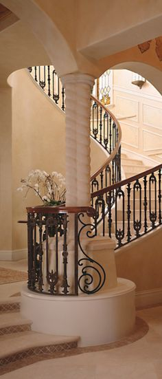 Old World, Mediterranean, Italian, Spanish & Tuscan Homes & Decor stairway