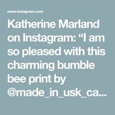 """Katherine Marland on Instagram: """"I am so pleased with this charming bumble bee print by @made_in_usk_cards and have just found the perfect place for it. 🐝…"""" Perfect Place, Murals, Bee, Wallpaper, Cards, How To Make, Instagram, Wallpaper Desktop, Wall Paintings"""