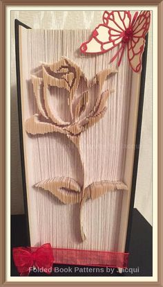 Rose Cut And Fold Book Folding Pattern