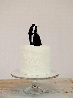 silhouette cake topper.