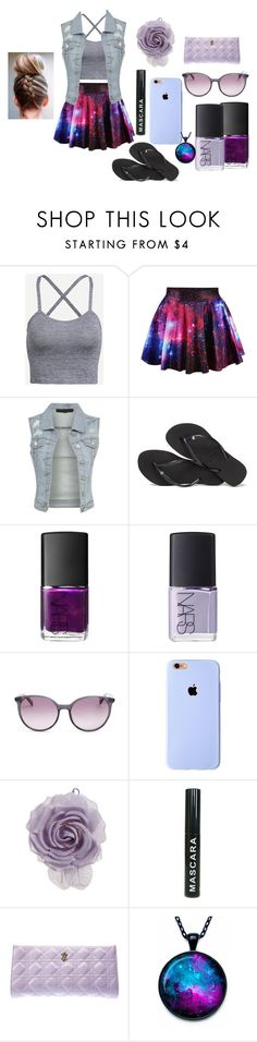 """""""What to do? What to do?"""" by bowkam ❤ liked on Polyvore featuring Havaianas, NARS Cosmetics, MaxMara and Cara"""