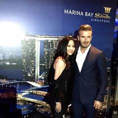 Thanks to Marina Bay Sands for inviting me to an amazing party at Ozone with David Beckham!he's so friendly n handsome! Outfit & Shoes @Givenchyofficial Bags @givenchyofficial  #MarinaBaySands #DavidBeckham #SpecialMoment #amazing #relax #event #happiness @davidbeckham