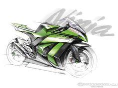 2011 Kawasaki Ninja ZX10R design sketch