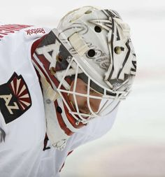 Louis Domingue #35 of the Arizona Coyotes