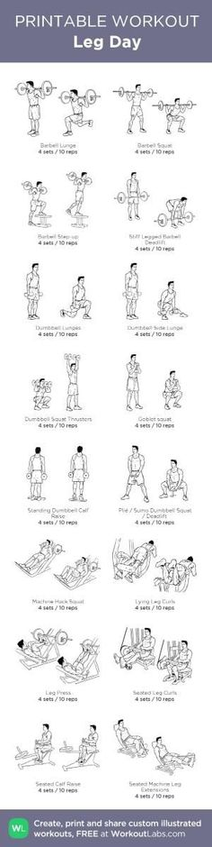 Leg Day: my custom printable workout by @WorkoutLabs #workoutlabs #customworkout by jeannine